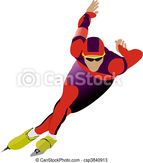μικροβιοφορέας , ταχύτητα , εικόνα , skating. - csp3840913