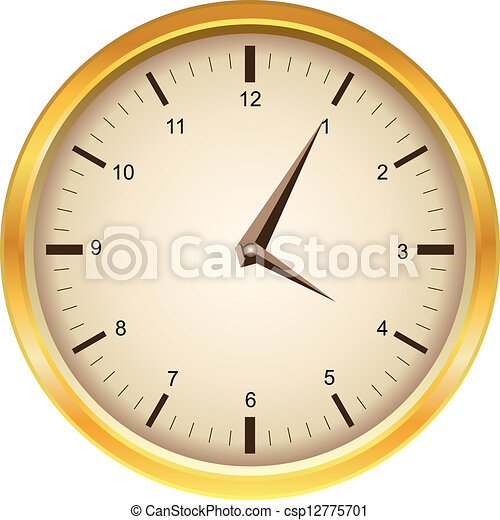μικροβιοφορέας , χρυσαφένιος , ρολόι  - csp12775701