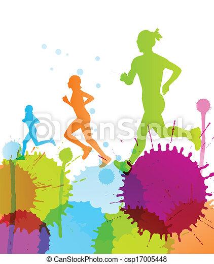 μικροβιοφορέας , χρώμα , αφαιρώ , βουτιά , φόντο , δρομέας  - csp17005448