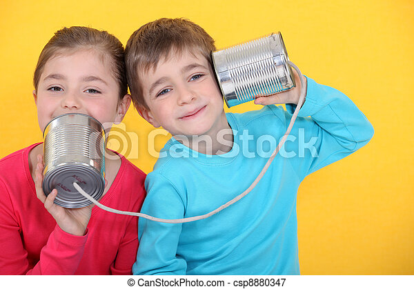 μικρόκοσμος , κίτρινο , τηλέφωνο , κασσίτερος , καλώ , cans , φόντο , έχει  - csp8880347