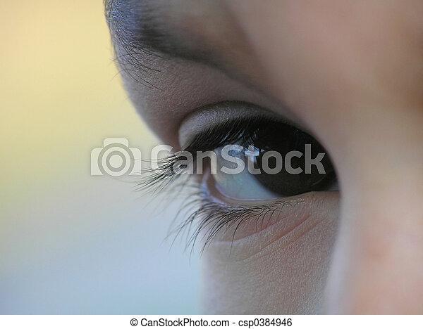μικρόκοσμος , μάτι  - csp0384946