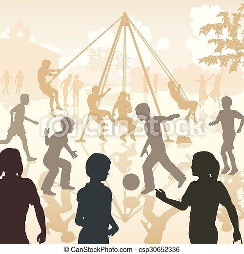 μικρόκοσμος , παιδική χαρά  - csp30652336