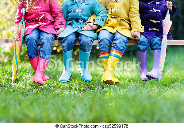 μικρόκοσμος , boots., βροχή , είδη υπόδησης , children. - csp52599178