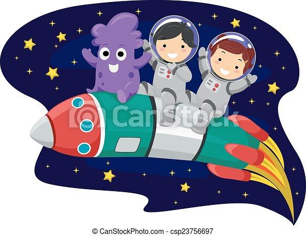 μικρόκοσμος , stickman, πύραυλοs  - csp23756697