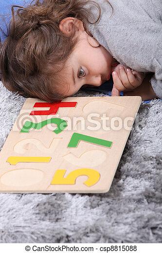 μικρός , παιχνίδι , κορίτσι , παίξιμο  - csp8815088