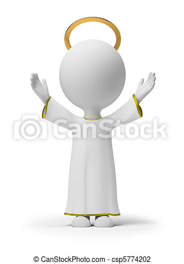 μικρό , θεός , 3d , - , άνθρωποι  - csp5774202