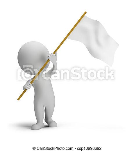 μικρό , σημαία , 3d , - , άνθρωποι  - csp10998692