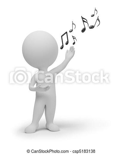 μικρό , τραγουδιστής , 3d , - , άνθρωποι  - csp5183138