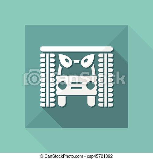 μονό , μικροβιοφορέας , απομονωμένος , εικόνα , εικόνα  - csp45721392