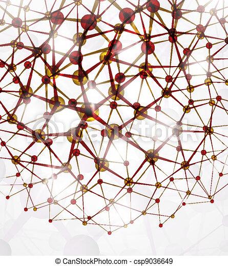 μοριακός διάρθρωση  - csp9036649
