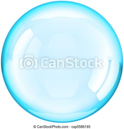 μπάλα , έγχρωμος , νερό , κυάνιο , αφρίζω , σαπούνι  - csp5586193