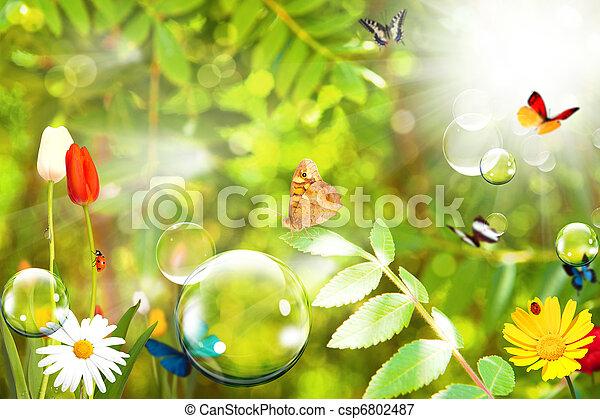 μπάλα , σαπούνι , φύση  - csp6802487