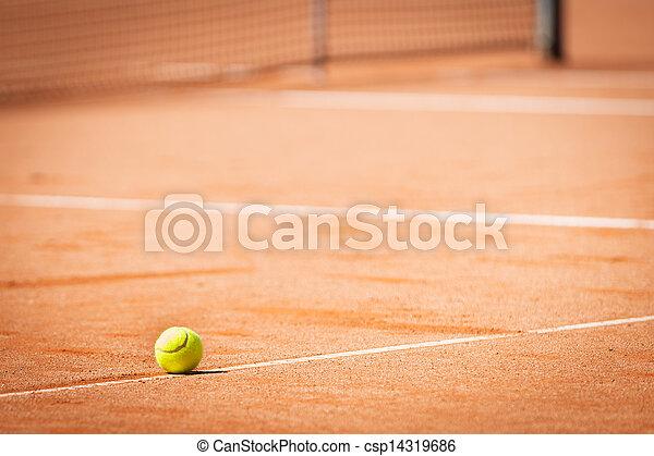 μπάλα , τένιs , τιμωρία σε μαθητές να γράφουν το ίδιο πολλές φορές , κίτρινο , άμμοs , πορτοκάλι , άσπρο  - csp14319686