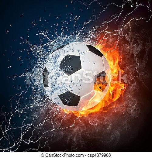 μπάλλα ποδοσφαίρου  - csp4379908