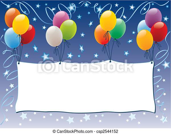 μπαλόνι , διαφήμιση  - csp2544152
