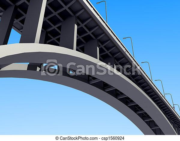 μπετό , αψίδα γέφυρα  - csp1560924