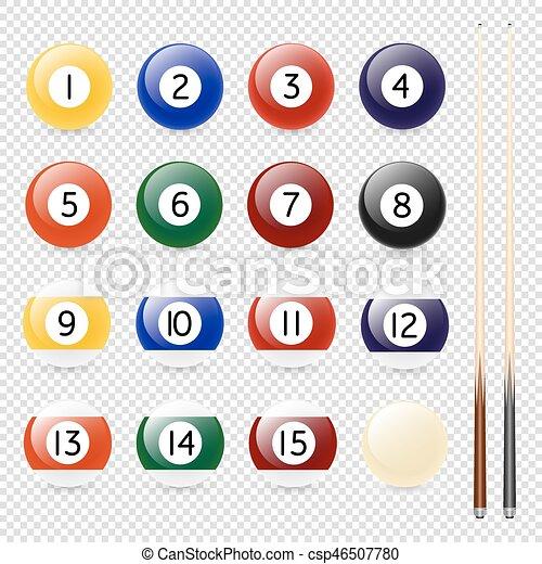μπιλιάρδο μπάλα , ρεαλιστικός , eps10., - , απομονωμένος , φόντο. , νύξη , μικροβιοφορέας , closeup , φόρμα , σχεδιάζω , διαφανής , κερδοσκοπικός συνεταιρισμός  - csp46507780