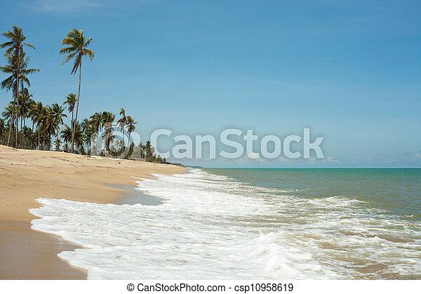 μπλε , άμμος αχανής έκταση , κύμα  - csp10958619