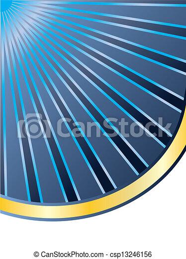 μπλε , ακτίνα , επικεφαλίδα , χρυσός  - csp13246156