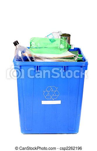 μπλε , αποθήκη , ανακύκλωση  - csp2262196