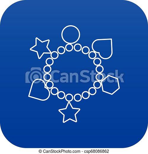 μπλε , γοητεία , μικροβιοφορέας , βραχιόλι , εικόνα  - csp68086862