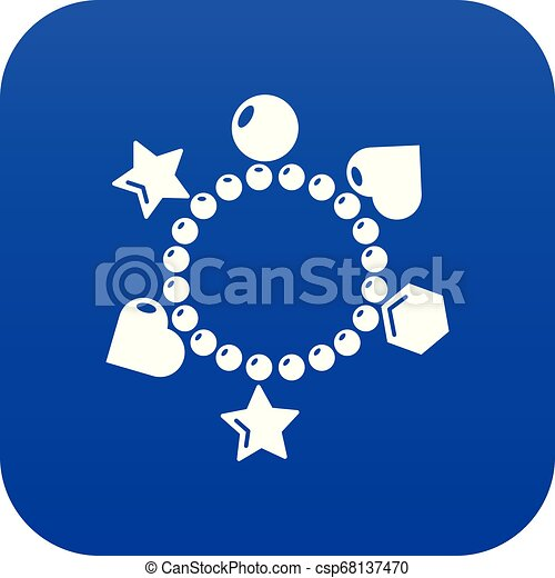 μπλε , γοητεία , μικροβιοφορέας , βραχιόλι , εικόνα  - csp68137470