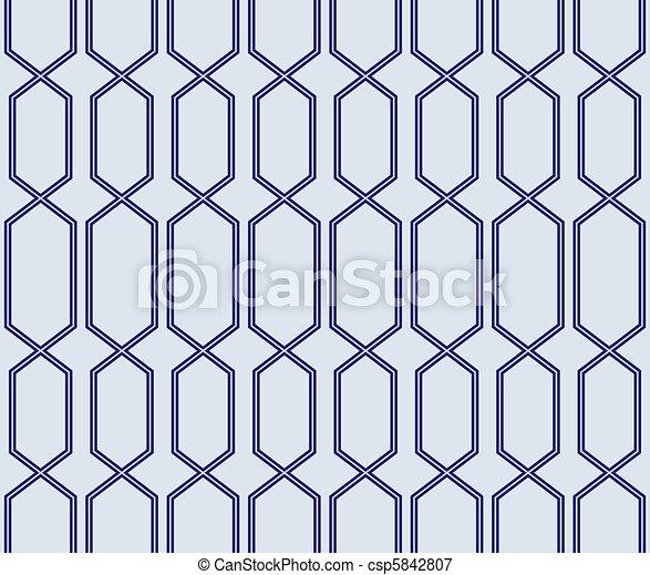 μπλε , δικτυωτό , seamless, πρότυπο  - csp5842807