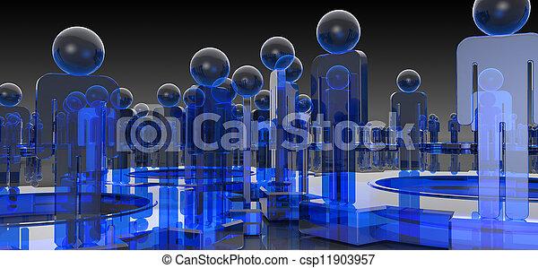 μπλε , επιστήμη , ιατρικός , φόντο  - csp11903957