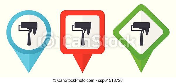 μπλε , θέτω , φόντο , γραφικός , δείκτης , απομονωμένος , όσπριο , edit., icons., μικροβιοφορέας , πράσινο , εύρεση , εύκολος , αγαθός αριστερός , δείκτης  - csp61513728