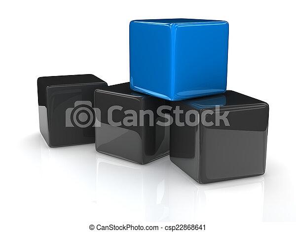 μπλε , κύβος  - csp22868641