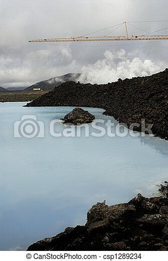 μπλε , λιμνοθάλασσα  - csp1289234
