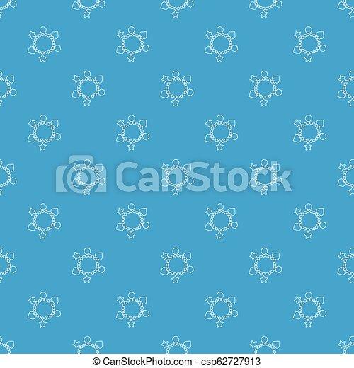 μπλε , πρότυπο , βραχιόλι , seamless, μικροβιοφορέας , γοητεία  - csp62727913