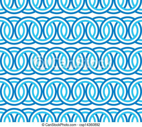 μπλε , πρότυπο , κύκλοs , seamless, αλυσίδα  - csp14360892