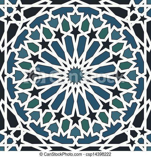 μπλε , πρότυπο , μαύρο , seamless, αραβούργημα  - csp14398222