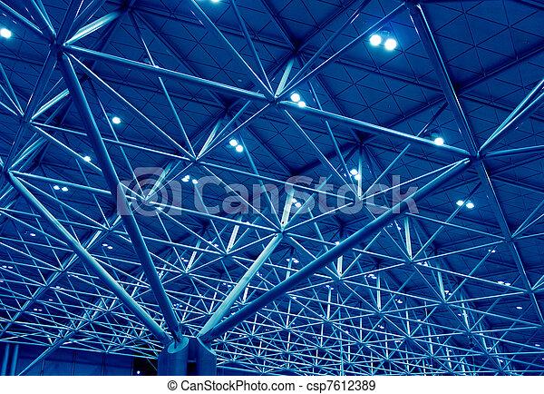 μπλε , υποστηρίζω , δομή  - csp7612389