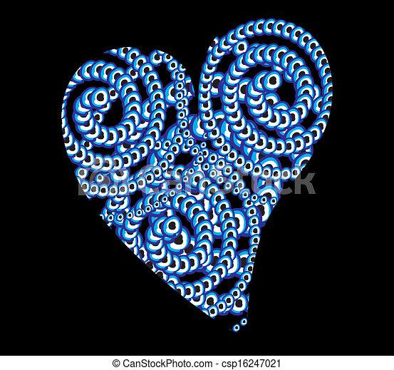 μπλε , φυλαχτό , γραμμή , μικροβιοφορέας , τέχνη  - csp16247021