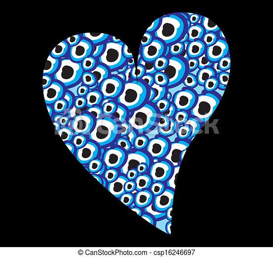 μπλε , φυλαχτό , γραμμή , μικροβιοφορέας , τέχνη  - csp16246697