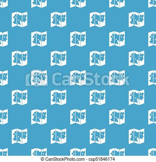 μπλε , χάρτηs , seamless, πρότυπο  - csp51846174