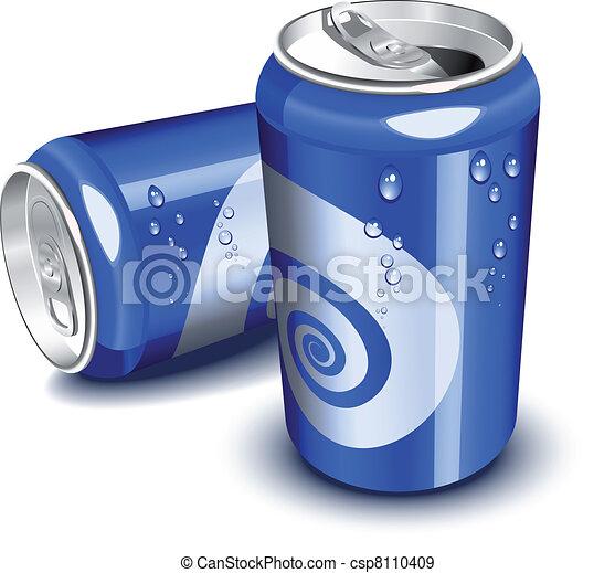 μπλε , cans , σόδα  - csp8110409