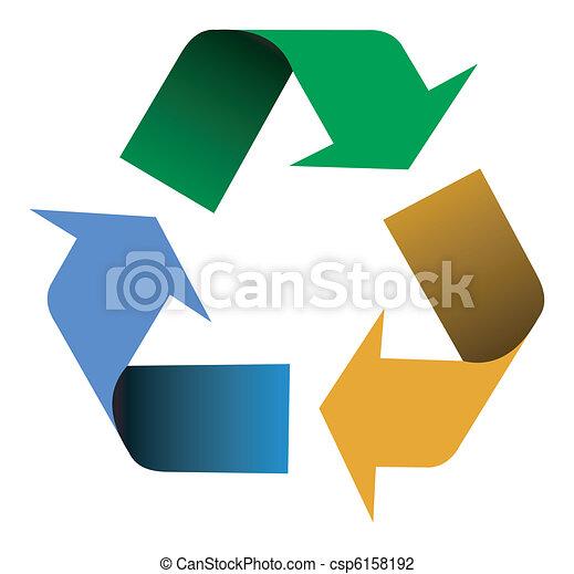 μπογιά , ανακύκλωση , βέλος  - csp6158192