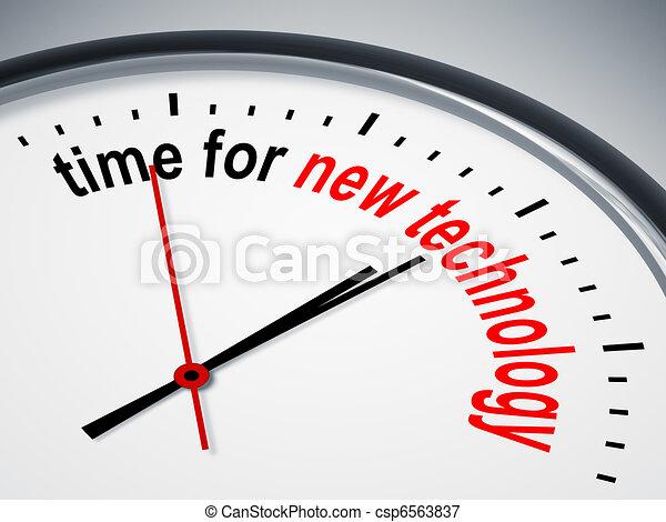 νέα τεχνολογία , ώρα  - csp6563837