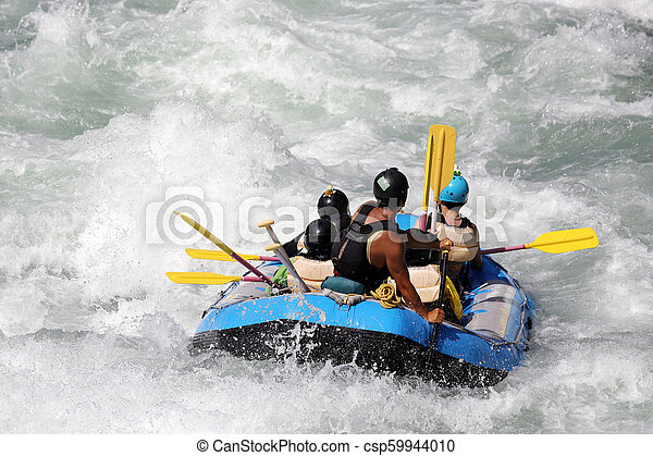 νερό , άσπρο , ποτάμι , μαούνα , καταρράκτης  - csp59944010