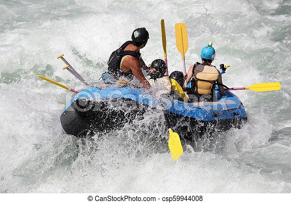 νερό , άσπρο , ποτάμι , μαούνα , καταρράκτης  - csp59944008