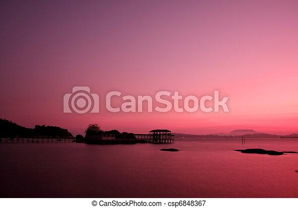 νησί , πρωί , pangkor - csp6848367