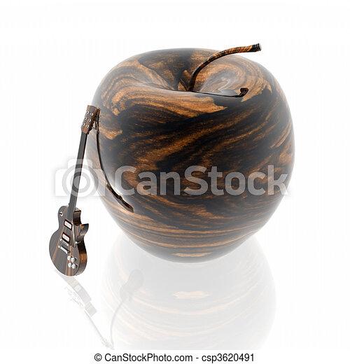 ξύλινος , μήλο , πλοκή  - csp3620491