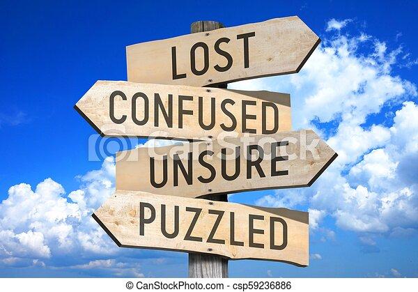 ξύλινος , οδοδείκτης , γενική ιδέα , - , αόρ. του lose  - csp59236886