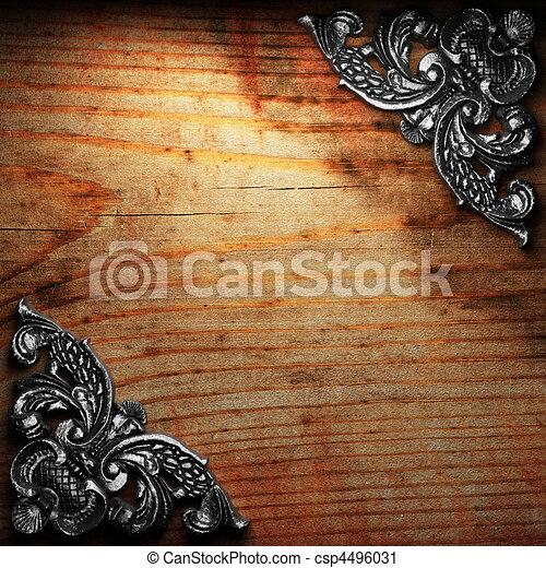 ξύλο , κόσμημα , σίδερο  - csp4496031