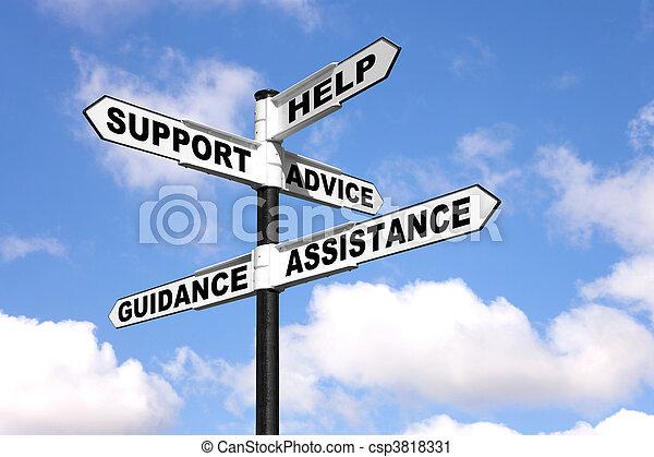 οδοδείκτης , υποστηρίζω , βοήθεια  - csp3818331