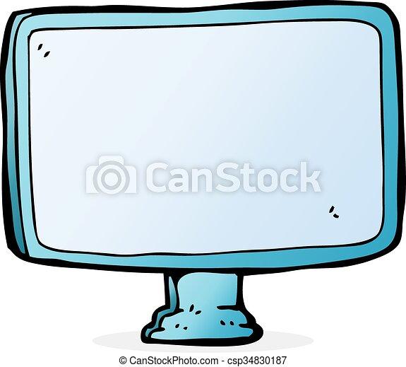 οθόνη , ηλεκτρονικός υπολογιστής , γελοιογραφία  - csp34830187