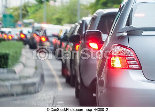 ουρά , αυτοκίνητο , κακός , κυκλοφορία , δρόμοs  - csp14430012